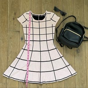 Baby pink and black checkered dress